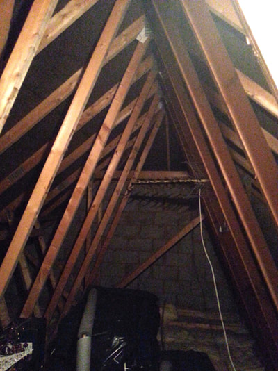 Photo showing loft before conversion